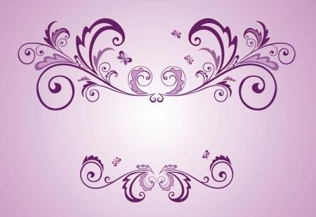 violet: Lilac frame