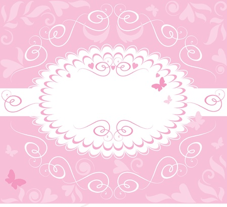 Beautiful pink frame Vector