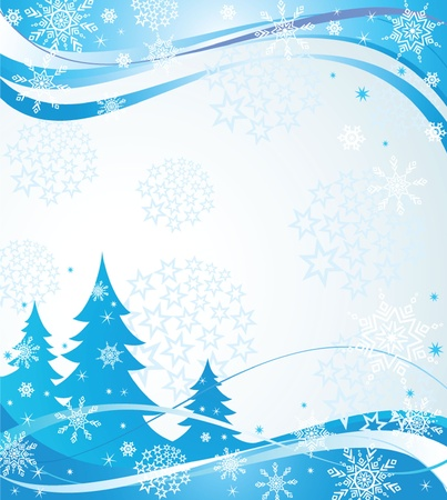 Winter blue banner Illustration