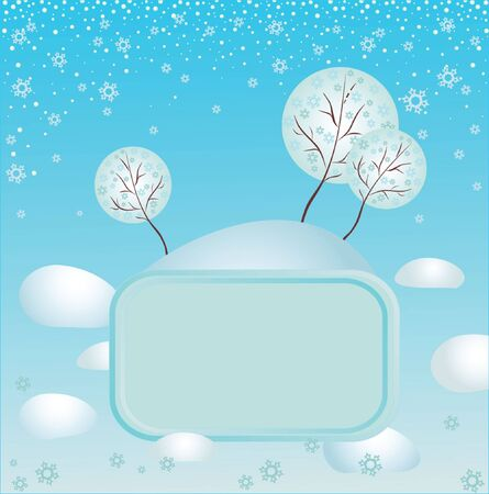 Winter frame   Stock Vector - 19034935