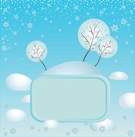 Winter frame Stock Vector - 19034935