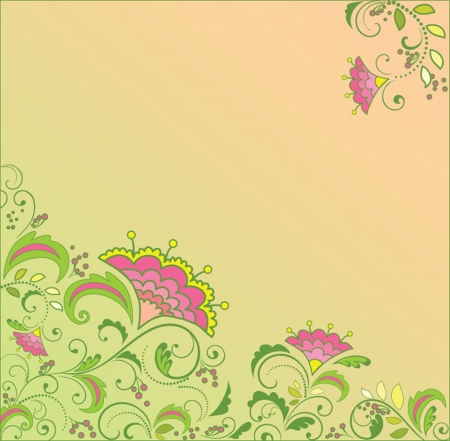 Floral background. Stock Vector - 19034897