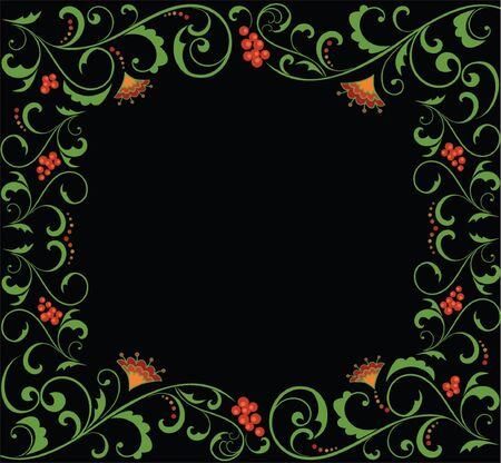 Floral frame. See my gallery for more Stock Vector - 19034907