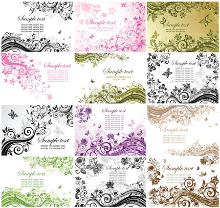 Floral backgrounds  Stock Vector - 19094424