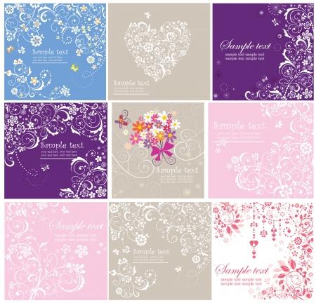 matrimonio feliz: Conjunto de tarjetas de felicitación