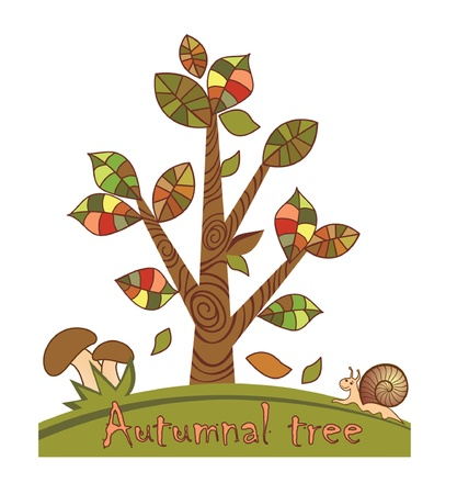 Autumnal tree Vector