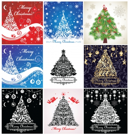Set of christmas cards Illustration