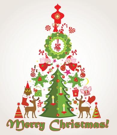 new year's cap: Xmas tree Illustration