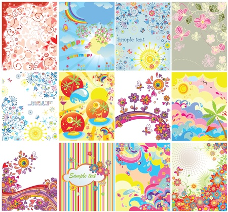 Holiday vertical banners Stock Illustratie