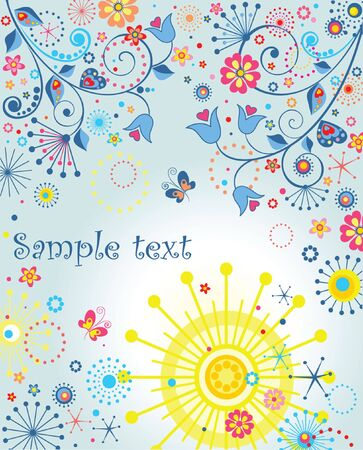 Summer abstract poster Vector