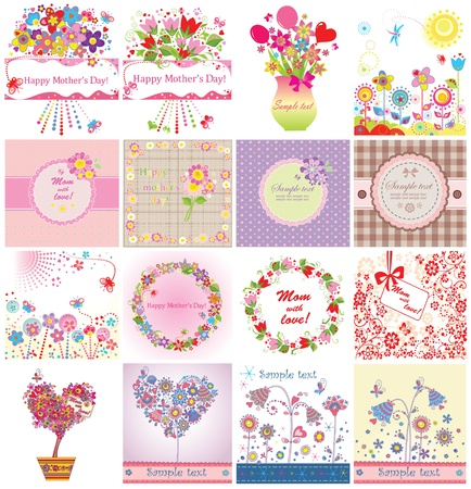 Greeting cards for Mother's Day Stock Illustratie