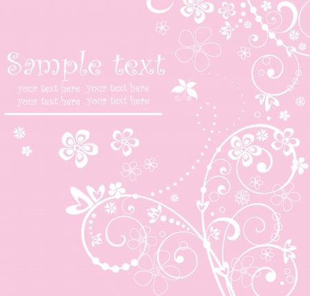 Pink arrival card Vector
