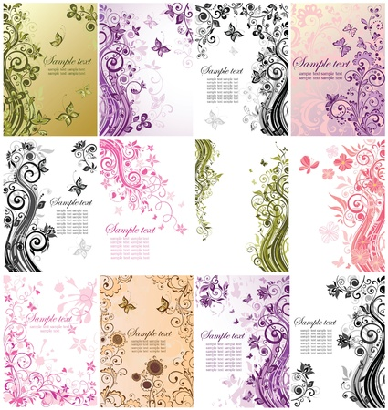 Vintage floral banners Stock Vector - 19094411