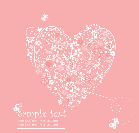 Greeting card with heart