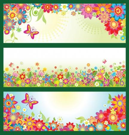 夏の花のバナー