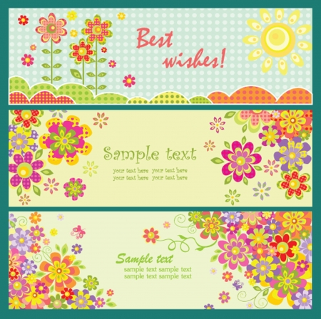 Horizontal greeting cards Vector