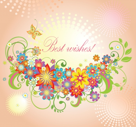 best wishes: Greeting summery card