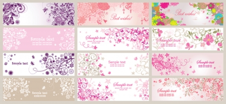 Beautiful greeting horizontal banners
