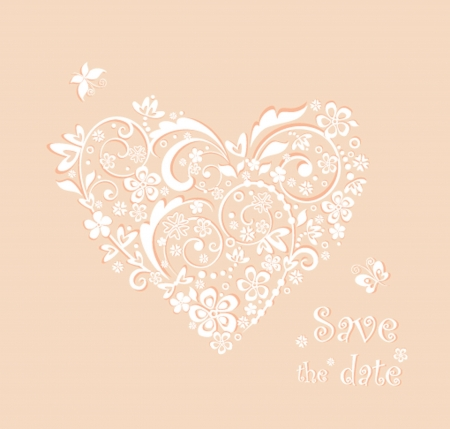 Baby girl arrival card with beautiful heart Vector