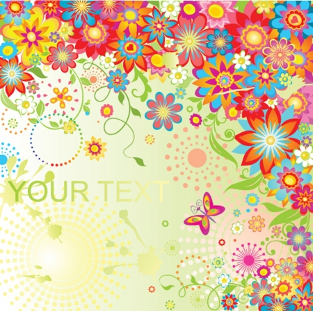 garden party: Colorful summery card
