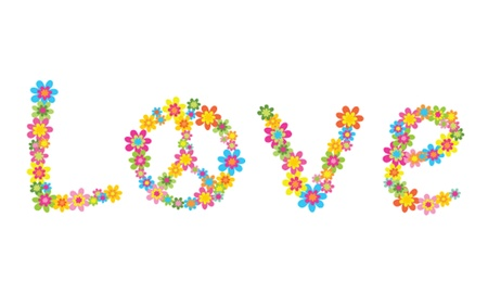 Flowers with love Vector