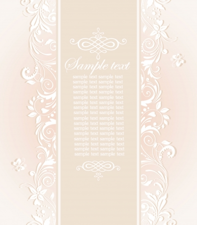Pastel wedding invitation Vector