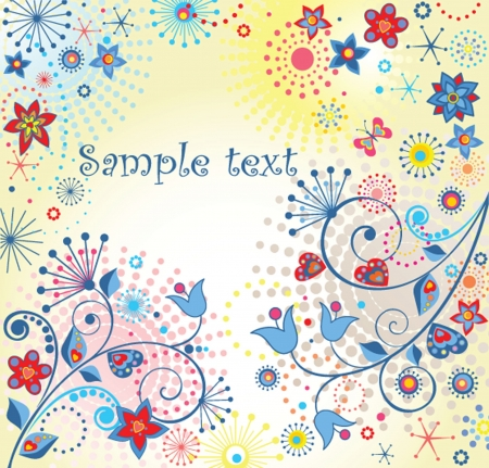 Summery colorful card Vector