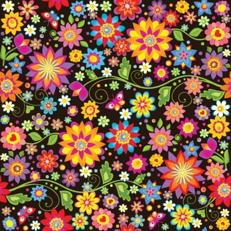 pattern flower: Vintage seamless floral wallpaper