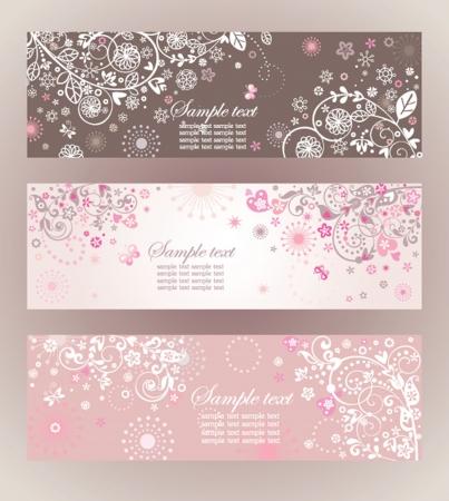 Beautiful floral horizontale Banner