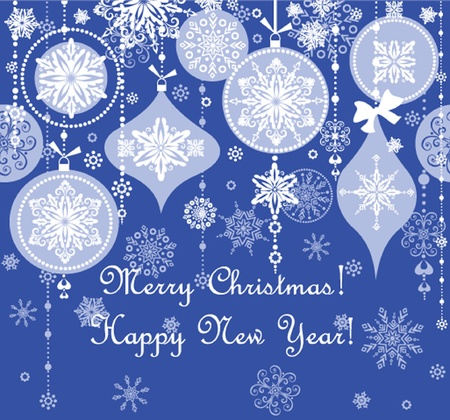 Blue xmas seamless background Vector