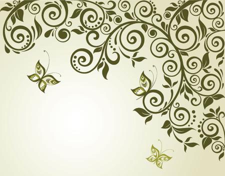 Floral vintage background. Stock Vector - 23754422