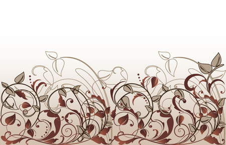 Floral vintage seamless background. Raster copy Vector