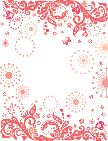 decoratiion: Red abstract banner.