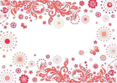 decoratiion: Red valentine card Illustration