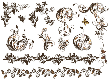 baroque border: Vintage elements for design Illustration