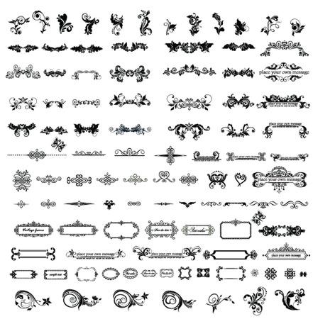 Vintage elements Vectores