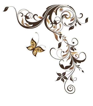 adornment: Vintage floral adornment