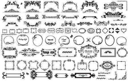 Cuadros de época y de las partidas para el diseño Foto de archivo - 23754754