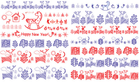 Winter borders for your design Vector