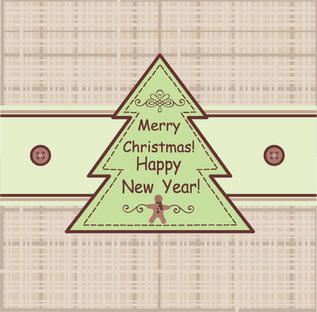 Funny xmas greeting Vector
