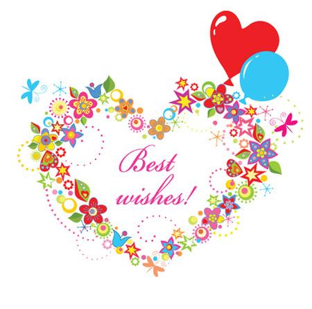 best wishes: Best wishes Illustration