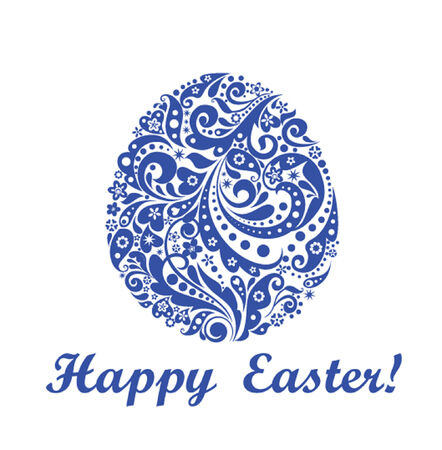 Decorative easter blue egg Vector