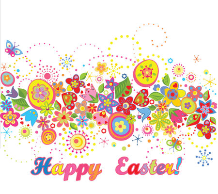 Easter seamless border Vector