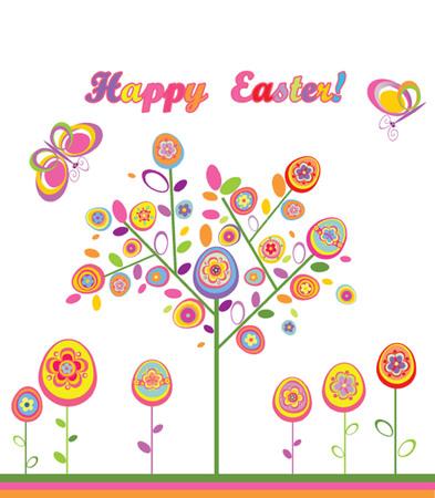 arbol de pascua: Pascua árbol Vectores