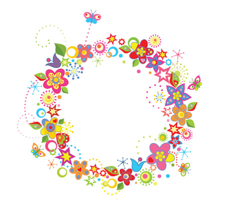 Funny greeting wreath Vector