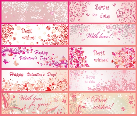 holidays for couples: Greeting banners for Valentines day