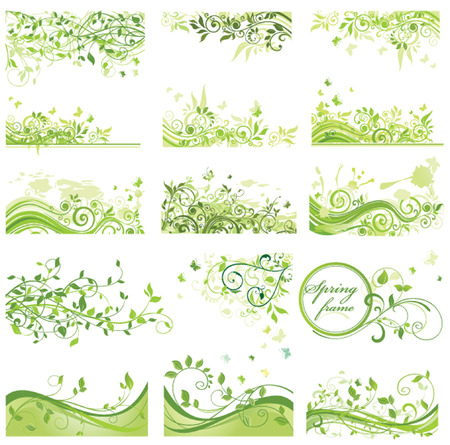 Set of spring backrounds
