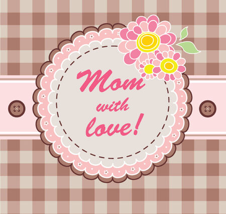 Greeting card for mom Vector