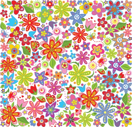 Spring floral wallpaper Vector