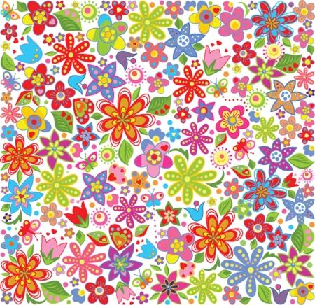 Spring floral wallpaper Vector